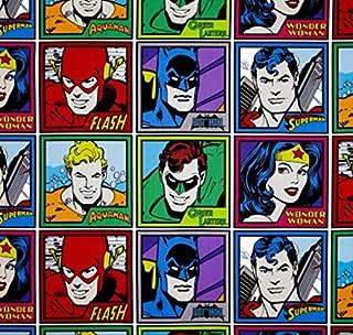 "DC Justice League Superheroes Pre-Cut 1 Yard (36"" X 44"