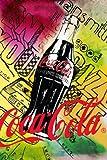 Coca Cola montaje Póster colores 36 x cm 60,96 (91,5 x 61 cm)