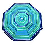 Shadezilla Platinum 6.5 ft Polyester 100 UPF Beach Umbrella with Vent & Tilt