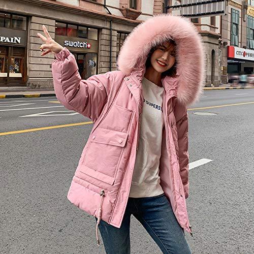 WFSDKN dames parka met capuchon dames mantel lange mantel parka oversized kleur jas middellange dames winter dikke jas donsjas dames winter
