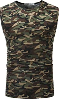 maweisong メンズルースベストタンクトップジム迷彩アンダーシャツノースリーブシャツ