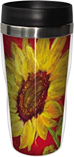 Tree-Free Greetings sg23715 Sunflower Prima Donna by Nel Whatmore Travel Tumbler, 16-Ounce