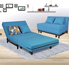 Folding Bed Folding Sofa Bed with Mattress Multifunction Adjustable Guest Bed Portable Easy to Fold Leisure Recliner Foldi...