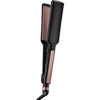 INFINITIPRO BY CONAIR Rose Gold Ceramic Flat Iron, 1 3/4 Inch, Black