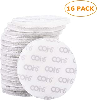 coins Brand - 16 Pack 5cm Hook and Loop Tape Round Superior Holding Power on Smooth Surfaces, White
