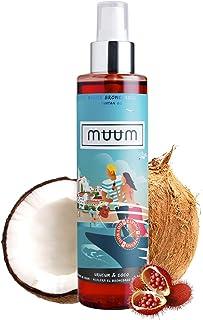 Aceite Bronceador de Urucum y Coco muum - Acelerador del Bronceado con Antioxidantes Naturales, Hidrata y previene manchas y arrugas - Bronceado de tono dorado y natural - 200 ml.