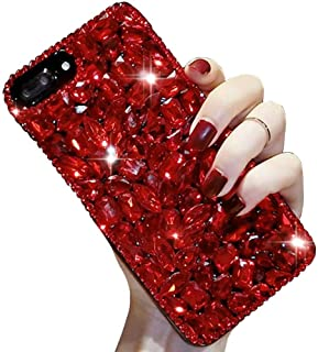 """Bling Diamond Case Compatible with iPhone 12 Pro Max 6.7"""" Aearl 3D Homemade Luxury Sparkle Crystal Rhinestone Shiny Glitte..."""