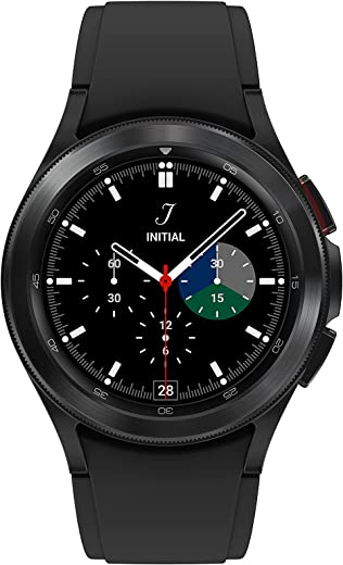 Samsung Electronics Galaxy Watch 4 Classic 46mm Smartwatch with ECG Monitor Tracker for Health Fitness Running Sleep Cycles GPS Fall Detection Bluetooth US Version, Black