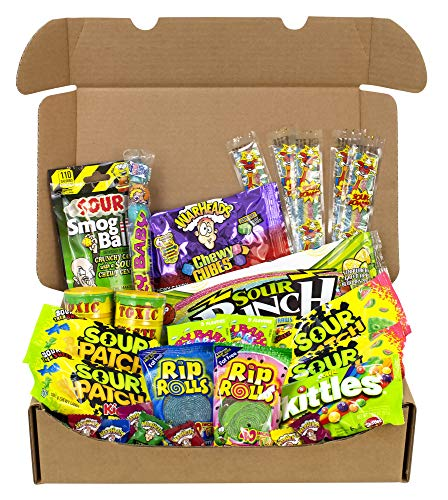 The Ultimate Variety Sour Box - 30 Piece Assortment Of The Worlds Most Sour Candy