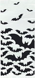 Unique Party 77059 - Cellophane Black Bats Halloween Party Bags, Pack of 20