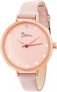 Boum Perle Minimalist Quartz Slim Genuine Leather Women's Watch