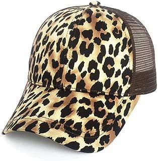 Yizhichu19900502 Womens Messy High Bun Ponytail Baseball Cap Adjustable Plain Mesh Trucker Hat
