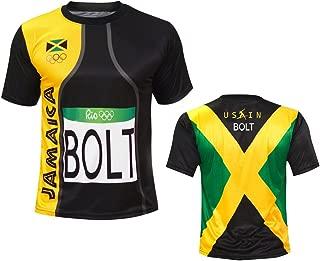 Skyfruit Men Sports Usain Bolt Rio T Shirt Jersey Jamaica