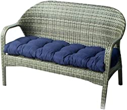 """Indoor/Outdoor Bench Cushion Cotton Garden Furniture Loveseat Cushion, 51.2""""x19.7"""" Patio Wicker Seat Cushions for Lounger ..."""