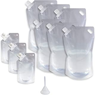 Cruise Ship Flask Kit - Reusable & Concealable Liquor Bags - Sneak or Smuggle Booze & Alcohol (6x32oz + 3x8oz + Funnel Included)