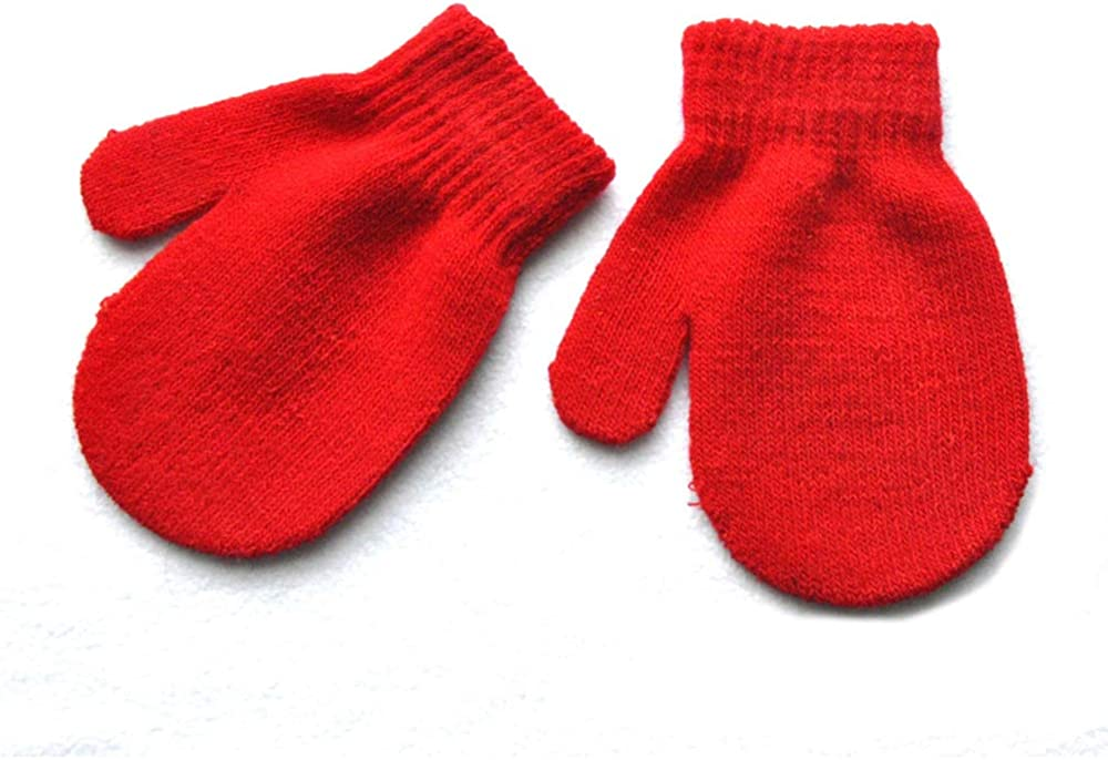 LAIMIO Toddler Magic Stretch Mittens Girls Soft Knit Mitten Baby Boys Winter Knitted Gloves