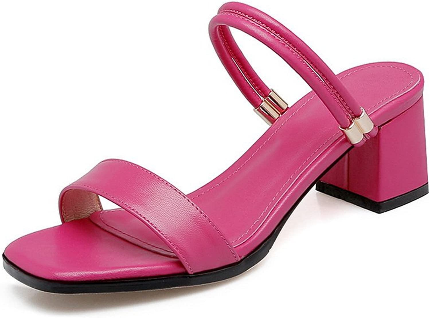 AN Womens Sandals Peep-Toe Smooth Leather Urethane Sandals DIU00608