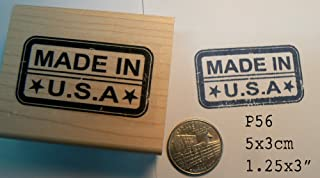Made in USA rubber stamp P56