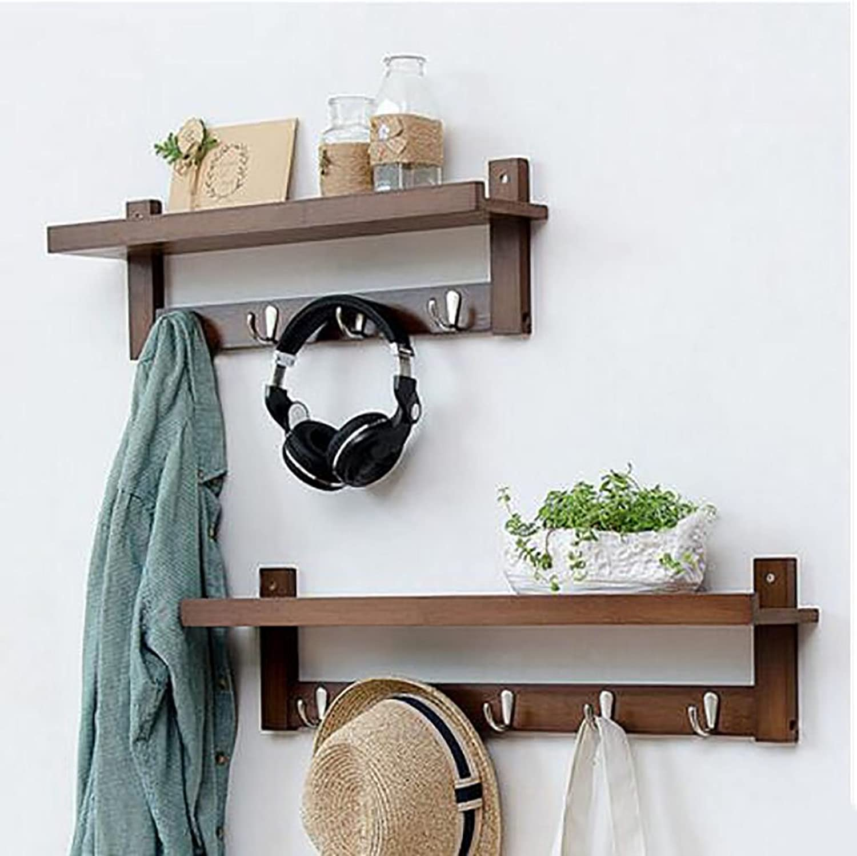 Creative Coat Racks Wall Hanging European Style Hangers Wall Clothes Hooks Living Room Shelf Hook up (color   C, Size   4+5 Hook)