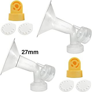 Nenesupply Compatible Pump Parts for Medela Breastpump Not Original Medela Pump Parts 27mm Breastshield Valve Membrane for Medela Pump in Style Medela Symphony Medela Swing Replace Medela Breastshield