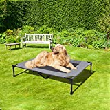 BABYLTRL Elevated Dog Bed Dog Cot with Mesh Center, Raised Dog Bed Pet Cot for Extra Large Medium Small Dogs, Multiple Sizes, No-Slip Feet, Indoor & Outdoor Use