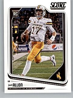 2018 Score #350 Josh Allen Wyoming Cowboys Rookie RC Football Card