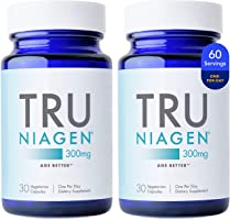 TRU NIAGEN NAD+ Booster for Cellular Repair & Energy Metabolism (Nicotinamide Riboside) - 300mg Vegetarian Capsules,...