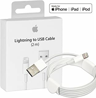 MD819ZM/A Genuine Original Apple Lightning USB Cable Charger Express Collections for OEM Apple iPhone X/8/7/6/6S Plus/5C (2m)