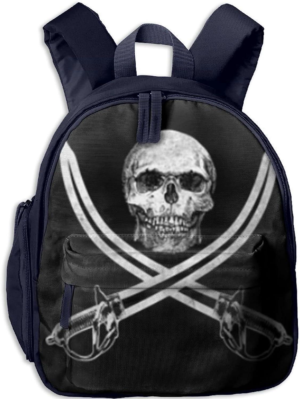 Pinta Pirate Skull Cub Cool School Book Bag Backpacks for Girl's Boy's