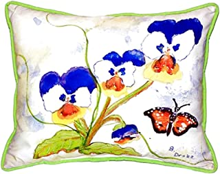 """Betsy Drake SN209 Pansies Small Indoor/Outdoor Pillow,,11"""" X14"""""""