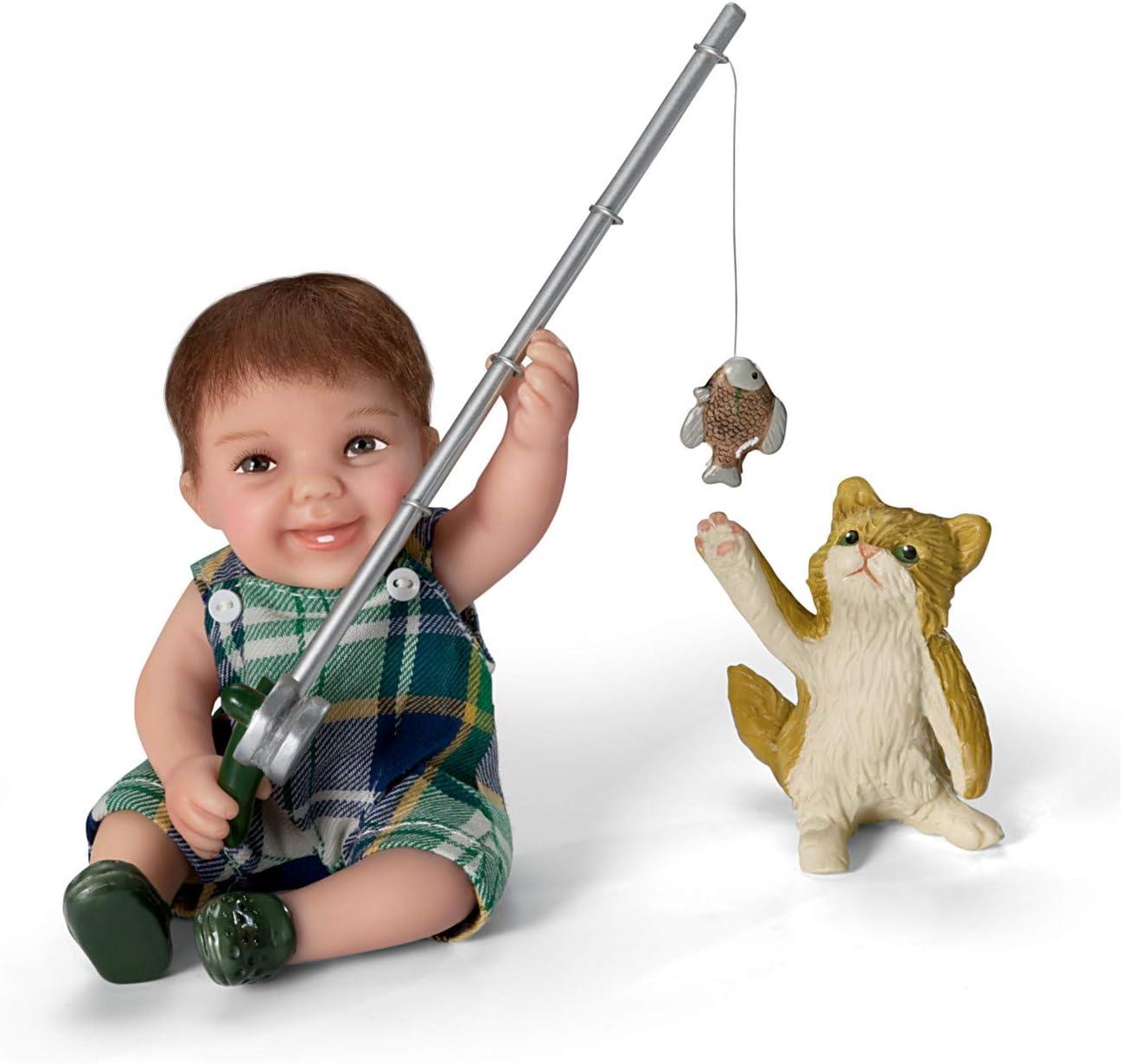 The Ashton - 5 National products popular Drake Galleries Fisherman Boy Cute Dol Toddler Reel