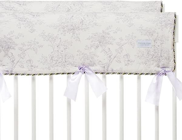 Glenna Jean Penelope Crib Rail Protector Lavender Mint White Short