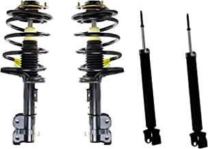 Detroit Axle - 4PC Front Strut & Coil Spring Assembly + Rear Shocks Absorbers for 2004 2005 2006 2007 Nissan Maxima