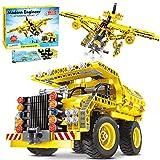 ACTRINIC Juguetes de construcción Stem 2 en 1 361 Piezas Kit de ingeniería de construcción Juguetes para niños de 6 7 8 9 10 11 12 años de Edad Regalo