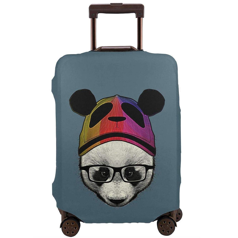 まともなコンパイルオープニングスーツケースカバーかわいい パンダ 保護 防塵 伸縮素材 お荷物カバー