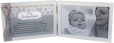 My Godmother, You Are Loved Poem White Double Hinged 4 x 6 Photo Frame with