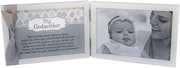 My Godmother, You Are Loved Poem White Double Hinged 4 x 6 Photo Frame with Ribbon