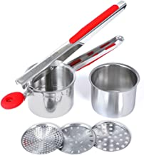 XWB Silicone Anti-Slip Handle Multi-Function Stainless Steel Potato Ricer And Masher Potatoes Mould Device