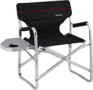 Onwaysports Aluminum Frame Director Chair with Side Table Lightweight Foldable Portable for Camping