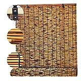 Persianas De CañA Paja Estores Enrollables Bambú Romanas,Retro Tejidas A Mano Prueba Polvo Para Exteriores Ecological Sunshade Partition Curtain,Para Interiores(Size:50x125cm/19.7x49.2in)