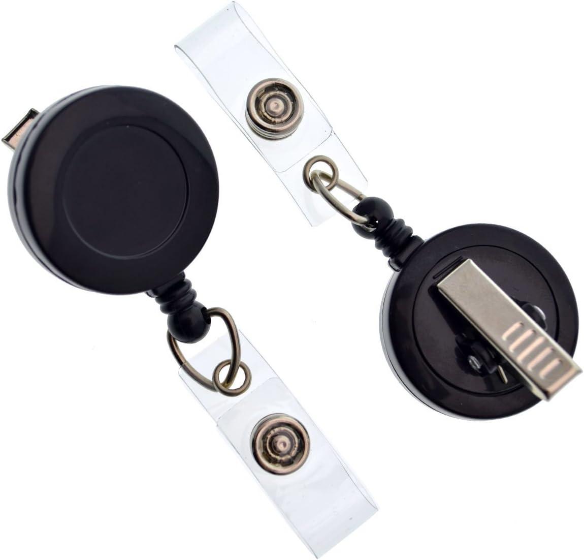 25 Pack - Bulk Premium 4 years warranty Black Alliga New product!! with Retractable Badge Reels