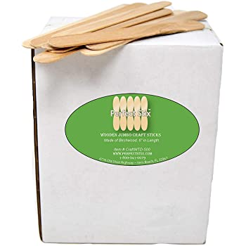 "Perfect Stix 6"" Jumbo Wooden Craft Sticks - Pack of 200ct"