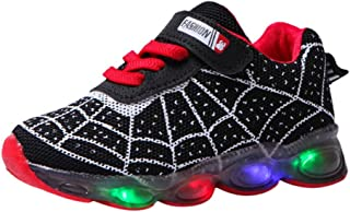 Children Kids Baby Girls Boys Cartoon Led Light Luminous Sport Sneakers Shoes Breathable Sneakers Sports Shoes