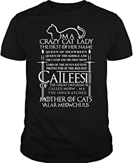 Game of Thrones T Shirt, Crazy Cat Lady T Shirt