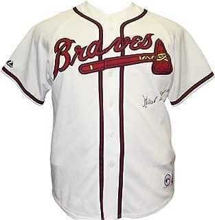 Hank Aaron Autographed Signed Atlanta Braves Majestic MLB Jersey - PSA/DNA Authentication