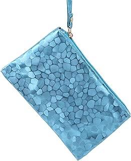 HENGSONG Luxury Handbags Women Bags Designer Envelope Party Mini Clutch Wallet Vintage Evening Wristlet Coin Purse Blue