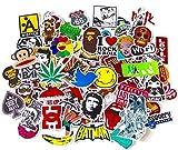 stickerfactory (100unidades) mejor vinilo pegatinas–Pack de todos los estilos de diferentes surtidos–para portátil Macbook monopatín, tabla de snowboard Equipaje iPhone Car Bike Bumper pegatinas Bomb Pack–Adhesivo en Retro Pop Art Graffiti Super Cool