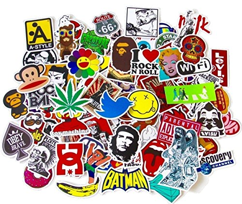 100 pieces different stickers