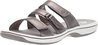 Clarks Women's Brinkley Coast Boxed, Pewter Synthetic, Size 5.0
