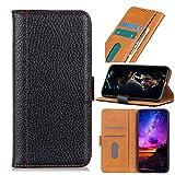GARITANE Funda para Samsung Galaxy Note 10,Carcasa Cuero Patrón de Litchi Elegante con Crédito Ranuras para Tarjetas Cierre Magnético Soporte (Negro)